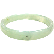 Vintage Pale Jade Bangle Bracelet