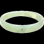Vintage pale jade bangle bracelet solid jade bracelet