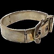 Vintage Mr Mexico 925 Sterling Silver Buckle Hinged Bracelet