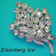 Eisenberg Ice Floral Bouquet Brooch
