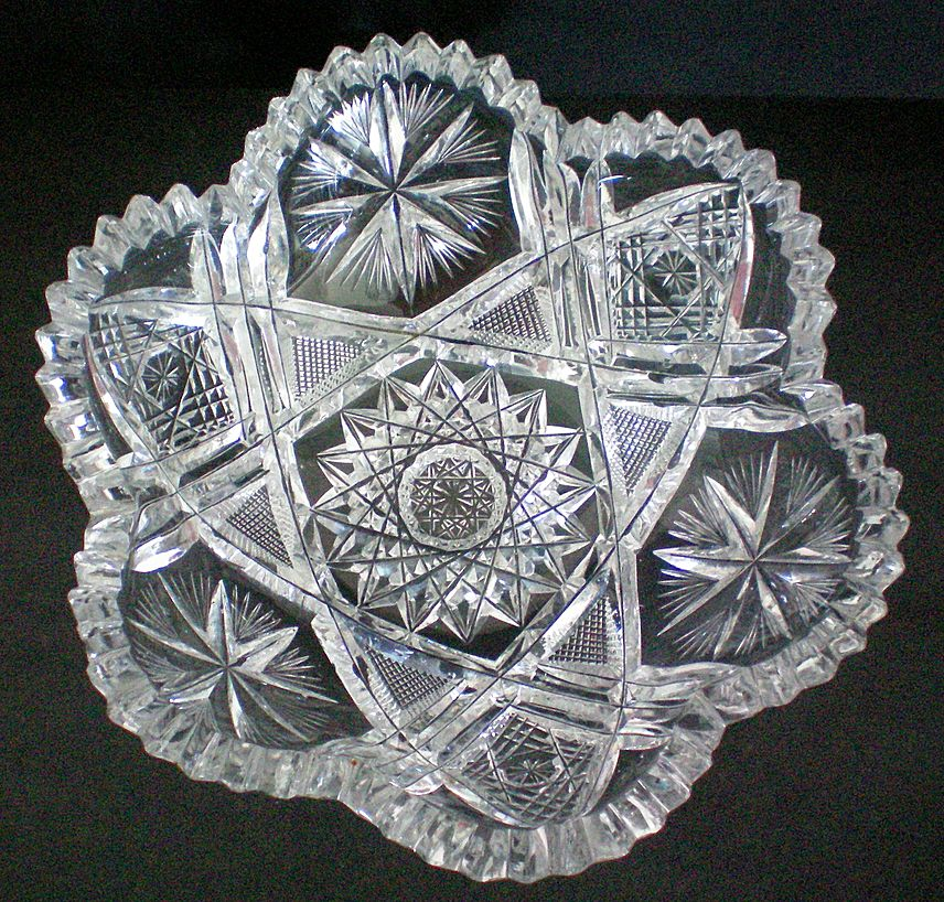 Brilliant Period American Cut Glass Bowl