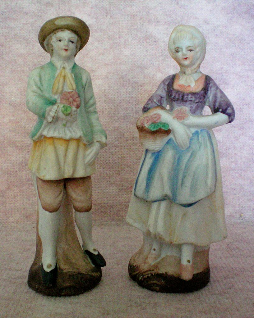 Occupied Japan Bisque Porcelain Figurines c. 1945 – 1952