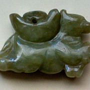 Carved Jade, Jadeite Horse Pendant