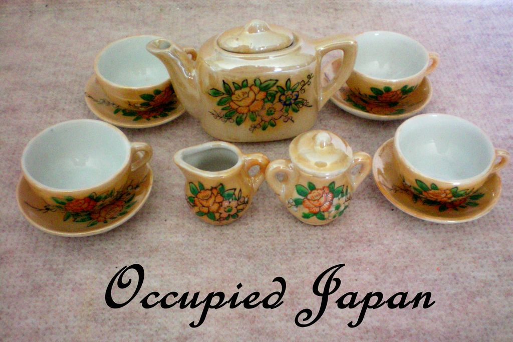 Child's Doll House Tea Set from Occupied Japan