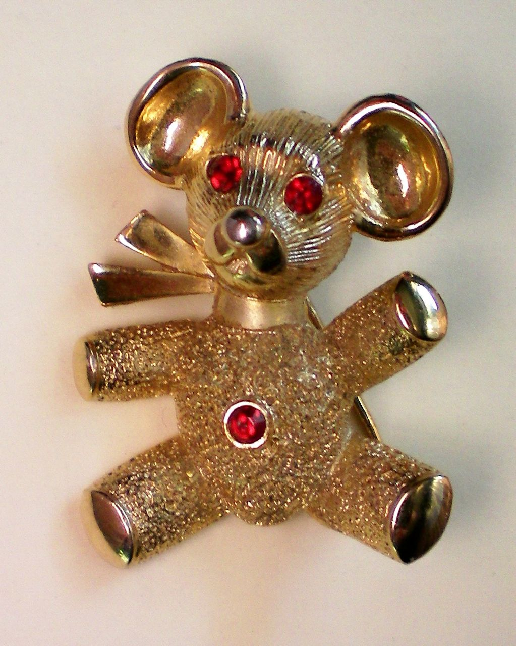Teddy Bear Pendant and Pin Combination