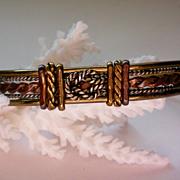 Brass, Copper and Silver Knot Bracelet