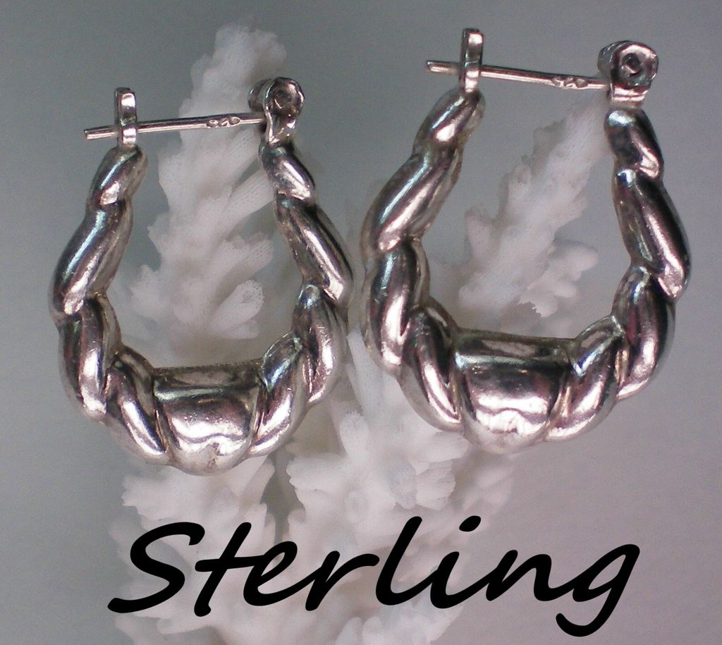 Sterling Silver Pierced Hoop Earrings