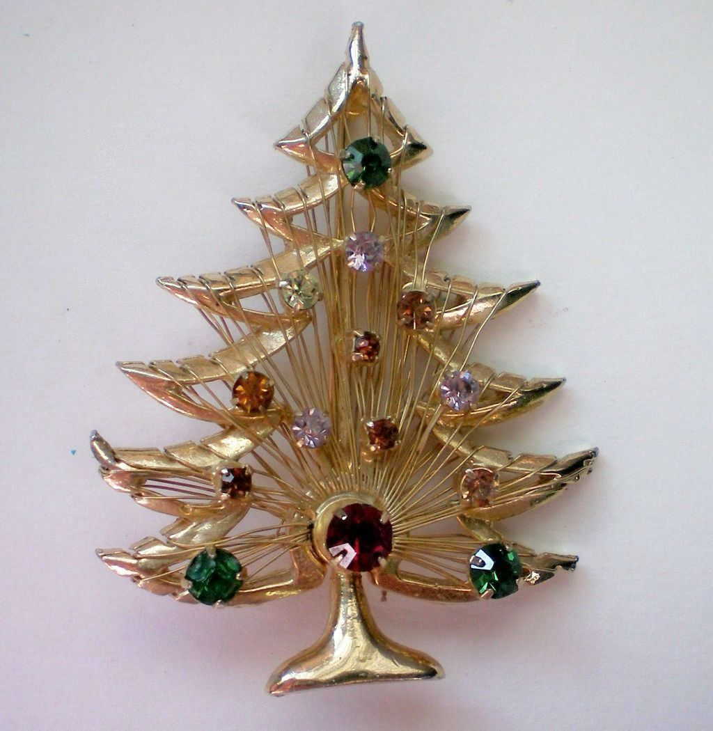 Christmas / Holiday Tree by BROOKS ~ Harp Tree, Signed