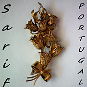 Sterling / Gold Plated Sarif Pin from Portugal