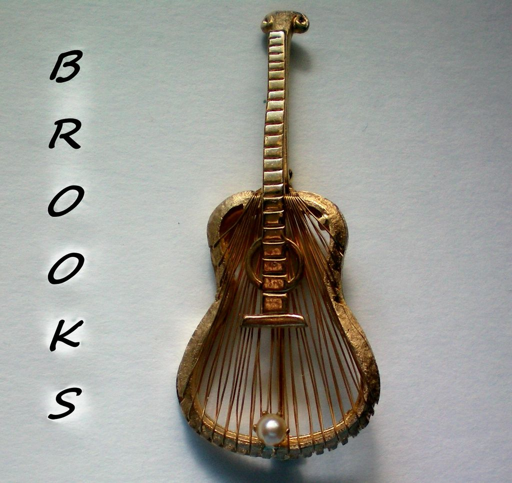 Brooks Guitar with Harp Strings