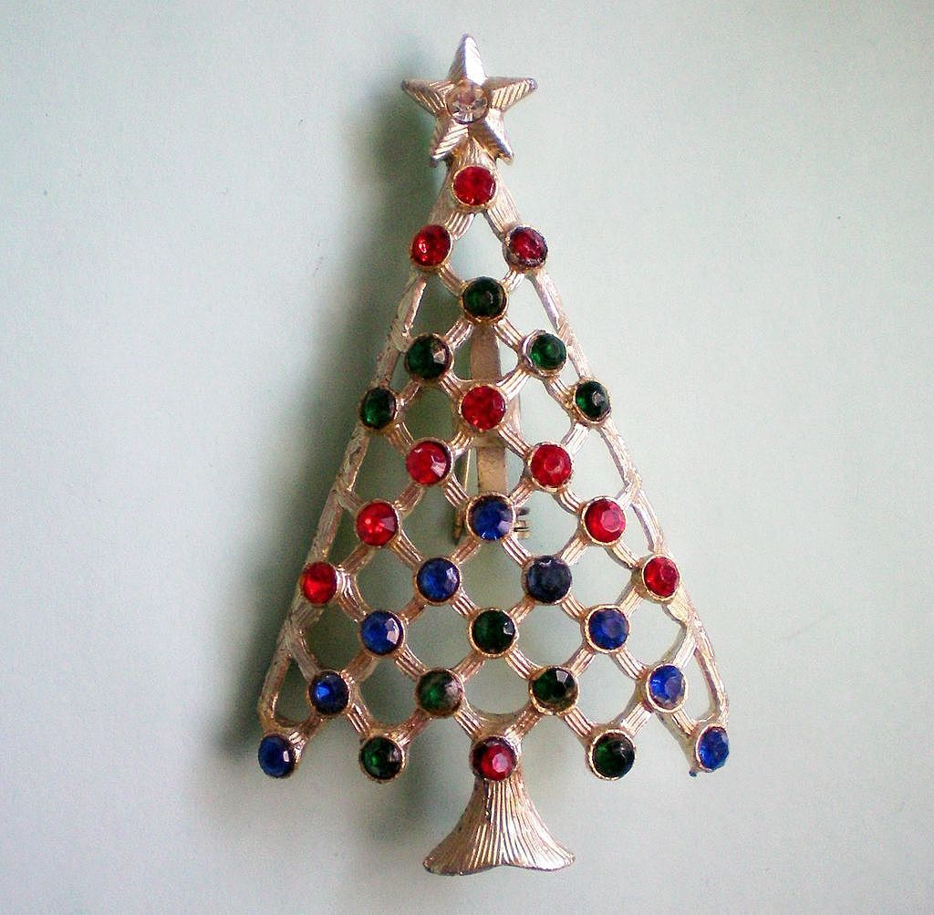 Christmas / Holiday Tree with Rhinestone Decorations