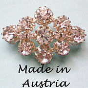 Foil Backed Austrian Crystal Brooch