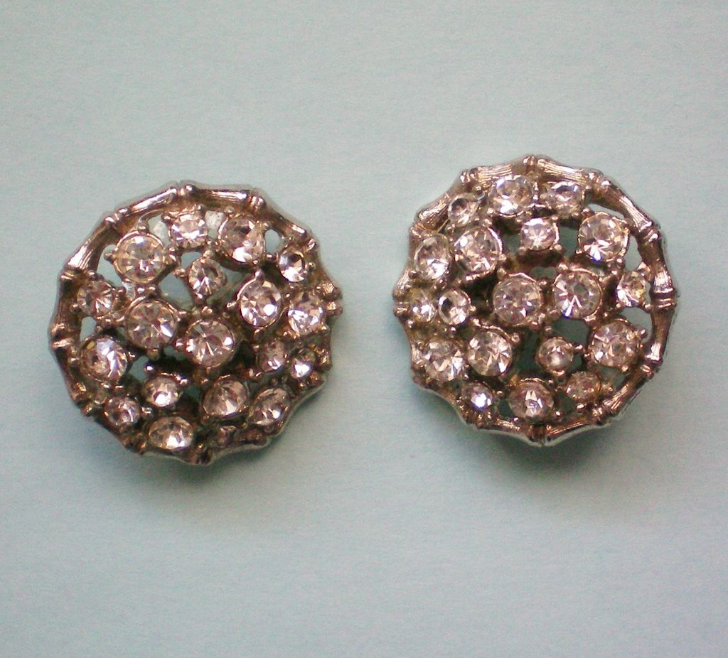 Two Round Rhinestone Buttons