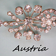 Austrian Crystal Floral Brooch