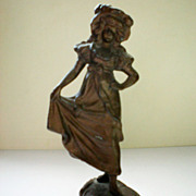 Metal Paper Weight / Curio Figurine - Girl from Germany