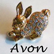 Avon Easter Bunny Lapel Pin