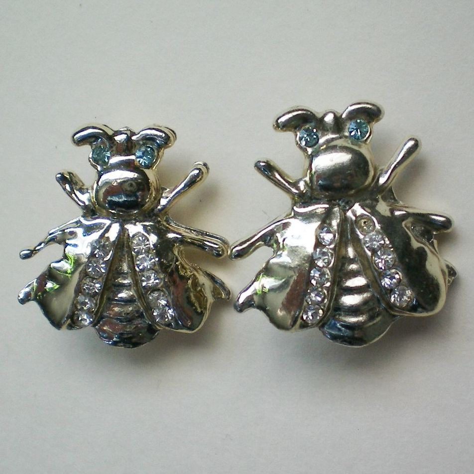 Pair of Fly or Bee Scatter Pins