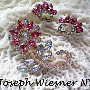 Joseph Wiesner of NY Floral Brooch & Earrings