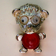 Googly Eyes Jelly Belly Bear Pin