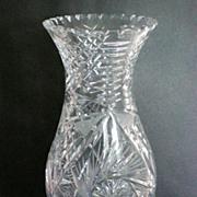 Large EAPG Cut Glass Flower Vase
