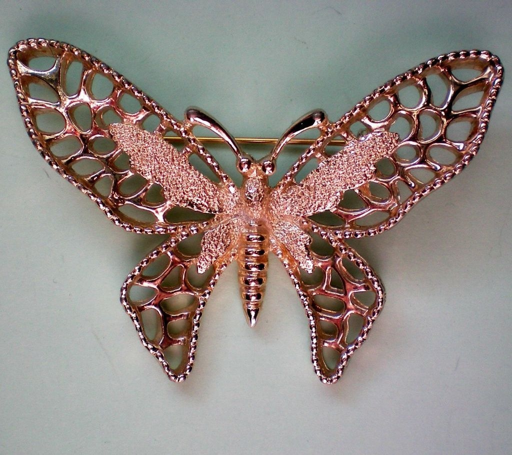 Sarah Coventry Gold tone Madam Butterfly Pin