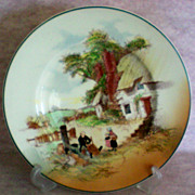 "Royal Doulton County Scene Rack Plate ""Mending Rush-Seated Chair"""