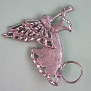 Silver Tone Angel Eyeglass / Name Badge Angel Pin