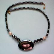 Huge Hematite Stone Beaded Necklace