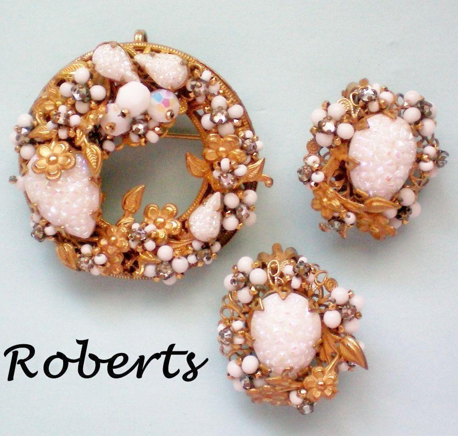 Original by Robert Wreath Brooch / Pendant & Earrings