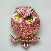 Book Piece - Sarah Coventry Owl Pin