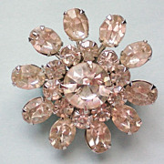 Sparkling Crystal Rhinestone Flower Pin