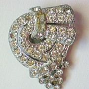Pot Metal Rhinestone Fur Clip