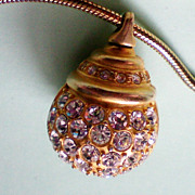 Glitter Ball Pendant on 34 Inch Snake Chain
