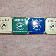 Tobacco Tins Set by Kentucky Club