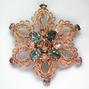 Signed Scitarelli Flower Brooch or Pendant