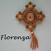 Florenza Dangle Brooch