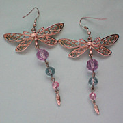 Butterfly Pierced Dangle Earrings