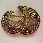 BSK Signed Gold tone Brooch