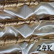 Cocktail / Hors d'oeuvres Forks – Original Box 24K Gold Plate