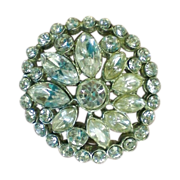 Foil backed Clear Rhinestone Pin