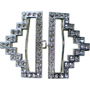 Art Deco Rhinestone Belt Buckle