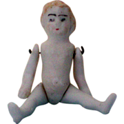 2½ Inch Bisque Doll with Movable Arms & Legs