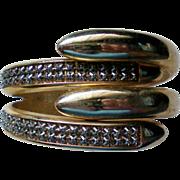 Egyptian Revival Snake Clamper Cuff Bracelet