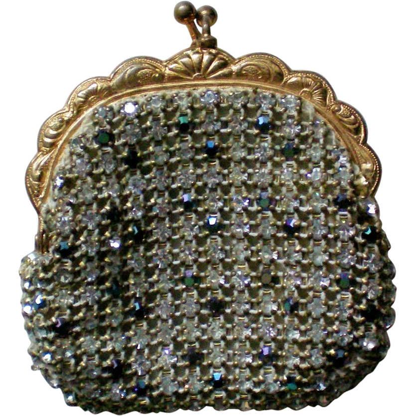 Rhinestone Studded Jacobson's Coin Purse from Austria