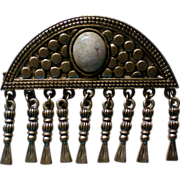 Egyptian Revival Pin with Glass Cabochon