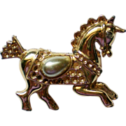 Carousel Horse with Faux Pearl Saddle