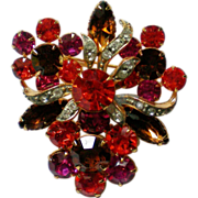 Fruit Salad Brooch in Autumn Colors