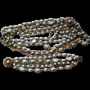 Bezel Set Milk Glass Necklace & Bracelet