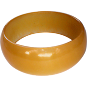 Sunshine Yellow Glass Bangle