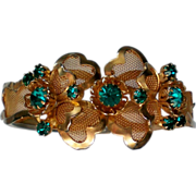 Wire Mesh Rhinestone Clamper Bracelet